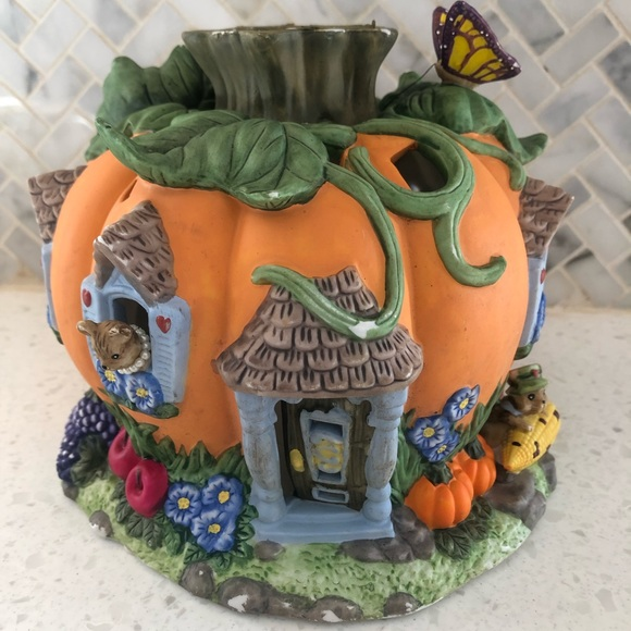 Partylite Pumpkin House Votive Candle Holder Fall